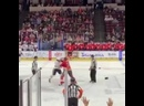 Жёсткая драка в хоккее