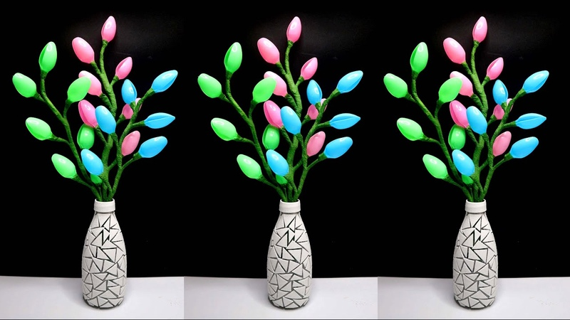 Ide Kreatif Hiasan Meja dari Botol Bekas dan Sendok Plastik Home decorating ideas