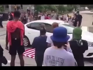 Протесты против полицейского произвола США Иран чернокожий
