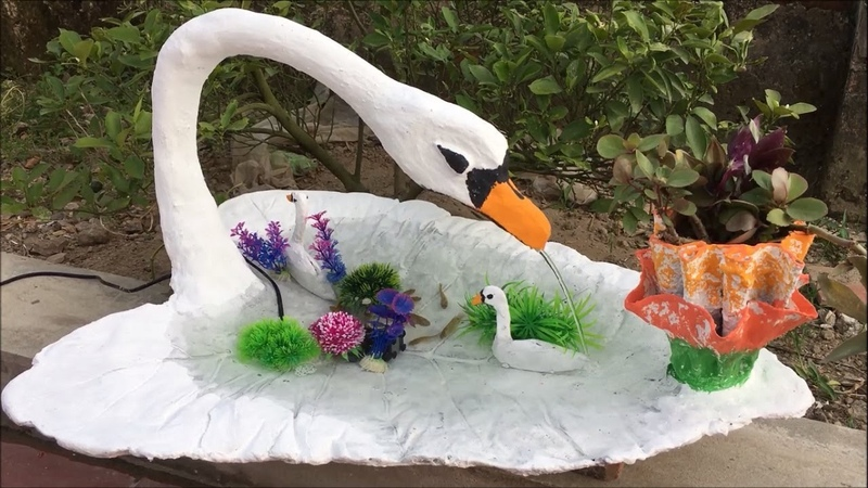 Creative Ideas with Cement For Garden Making Small Fish Tank and Flower Pots Beautiful and easy