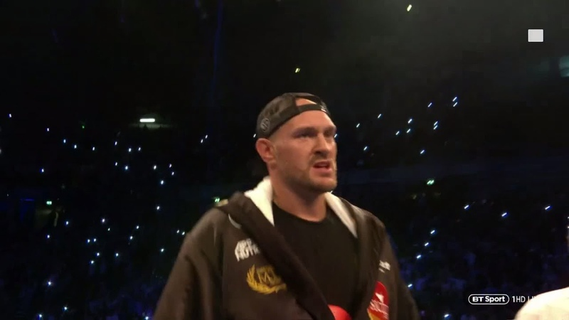 Incredible atmosphere Tyson Fury's first ring walk in 925 days