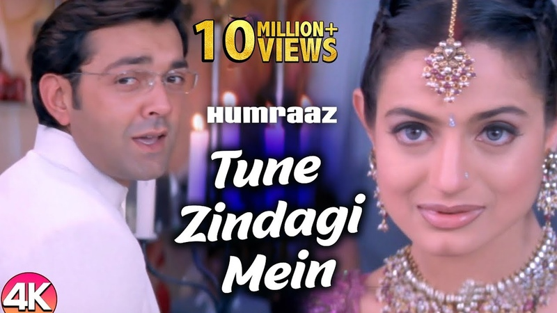 Tune Zindagi Mein 4K Video Humraaz Bobby Deol Amisha Patel Udit Narayan Hindi Romantic Song