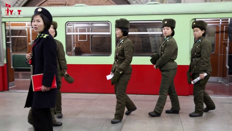 Actors or real people on the Pyongyang Metro