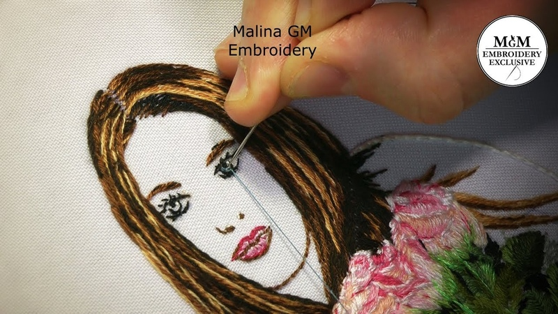 Hand Embroidery How to embroider your photo Как вышить свое фото