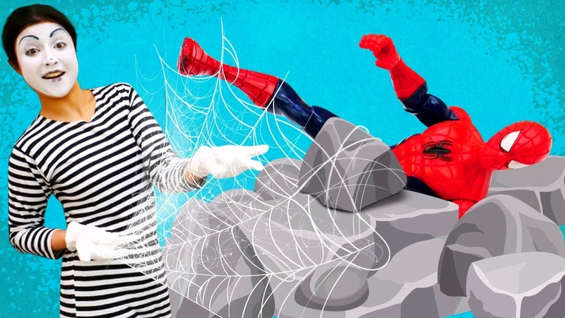 New super power for a clown! Marvel superheroes Spiderman vs Falcon.