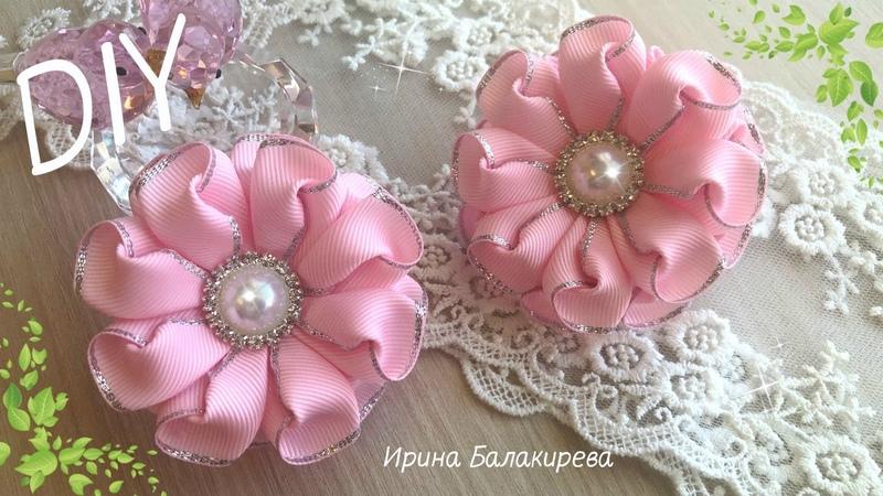 ❤️️Я Влюбилась в эти Цветы Канзаши ❤️️ Очень Простые и Красивые Цветы из лент ❤️️ Ribbon Flowers DIY
