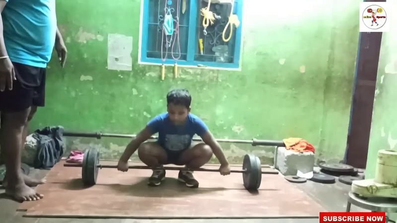 Indian Sports Sandeep 9year old boy snatch 25 kg covered by Indian Sports weightlifting