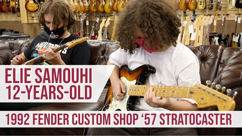 12 years old Elie Samouhi Lemmo 92 Fender Custom Shop '57 Stratoocaster 1962 Fender Jazzmaster