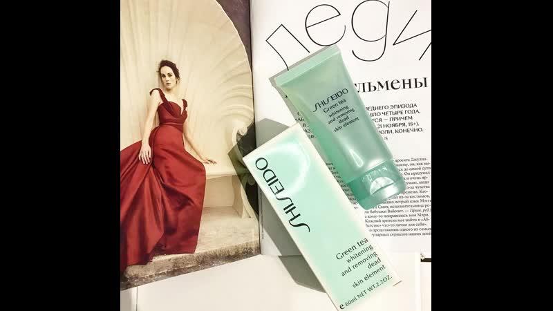 Shiseido Green Tea мягкая пилинг скатка