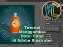 Bagaimana Menggambar Botol sirup