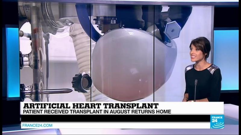 Artificial heart transplant patient returns home five months after transplant