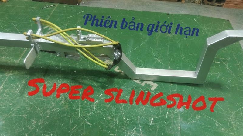 DIY Hướng dẫn chế ná cao su chi tiết phiên bản 2 ll homemade slingshot