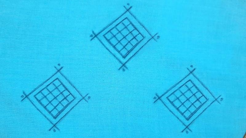 All Over Motif Design for Dress Kurti Shirt Hand Embroidery Work