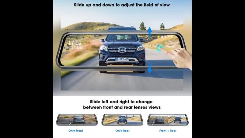 PoKPRo 10 дюймов Зеркало 2,5 K 1080P Автомобильный видеорегистратор!