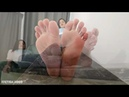 This brunette has some amazing foot skills!