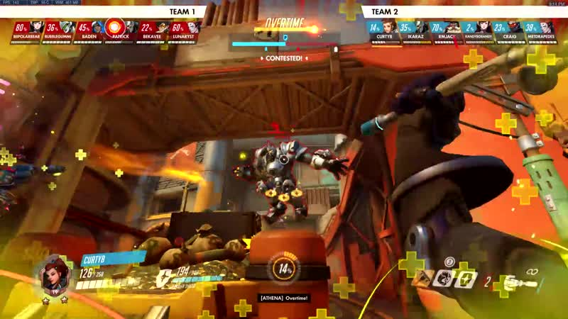 We were being eaten alive by Tracer and Gengi all match Switched from Ana to Mercy with no avail finally for the last second s