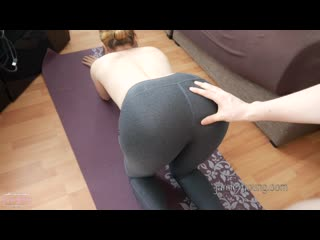 Jamie Young - Creampie and spanking on the yoga mat [All Sex, Hardcore, Blowjob, Gonzo]