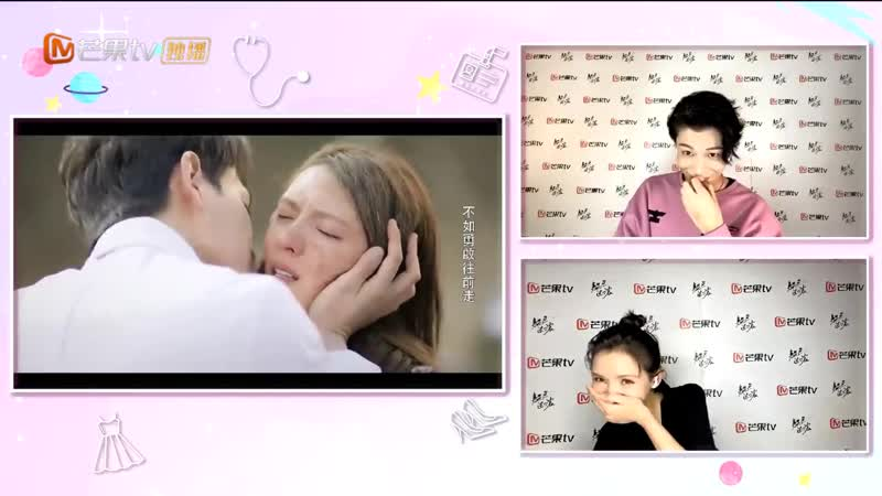 Intense love reaction from the actors Реакция актеров