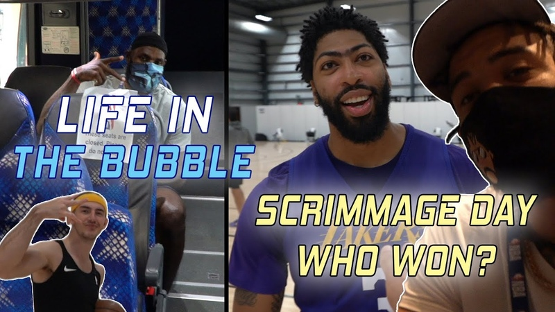 Life in the Bubble - Full Team Scrimmage! Who Won! 👀 | JaVale McGee Vlogs