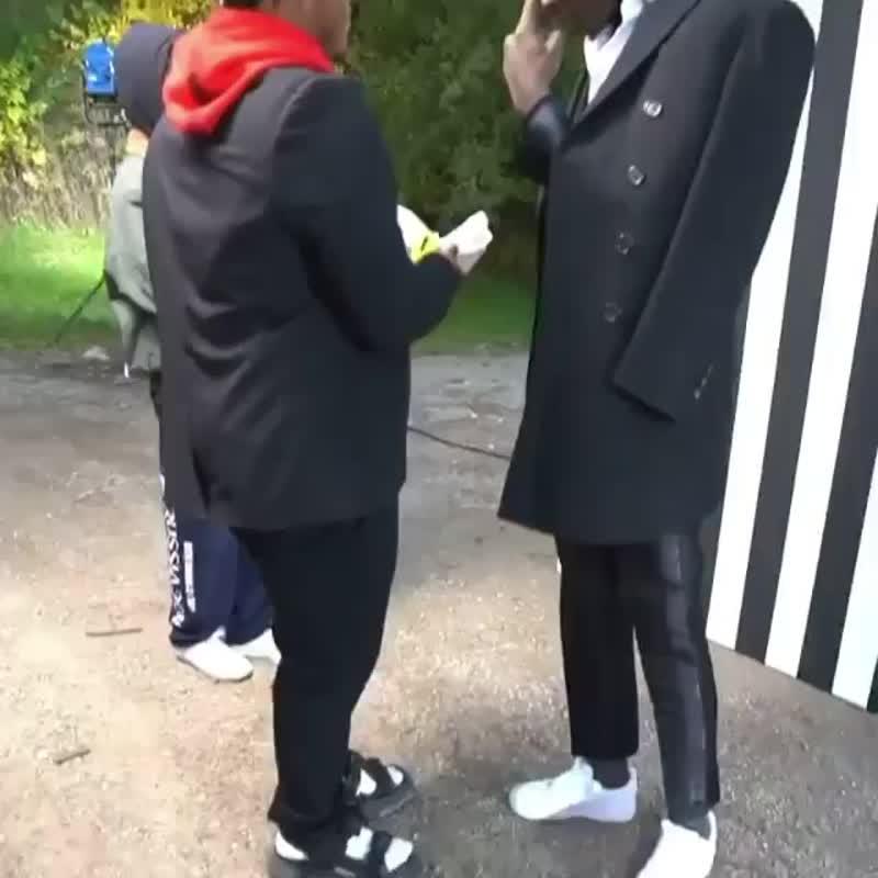 Juice WRLD и Young Thug на съёмках клипа «Bad Boy»