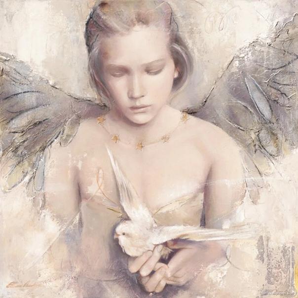 Эльвира Амрейн. Немецко-французская художница Эльвира Амрейн (Elvira Amrhein) в основном изображает на своих холстах прекрасных ангелов. Нежные, невинные и искренние, как новорожденные дети с