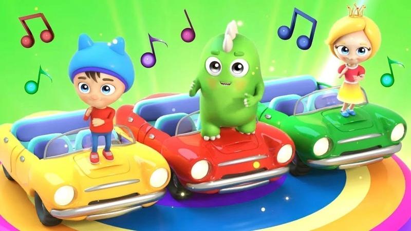 Çocuk şarkıları. Çizgi film Sina ve Lo Arabalar! Renkleri öğrenelim.
