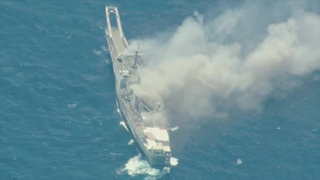 US, Japan Forces Sink Old Warship By Rockets, Missiles And Torpedos – USS Racine Sinking Exercise